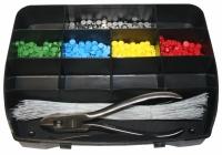 Sortierbox + Zange 8 mm + 500 Plomben + 500x Draht