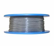 Plombendraht Perlon/Nirosta 0,50x0,30 mm - Spule 100 m
