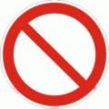 Symbolschild, Allgemeines Verbotszeichen nach BGV A8 P 00