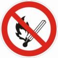 Symbolschild, Feuer, offenes Licht und Rauchen verboten