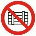 Symbolschild, Nichts abstellen oder lagern nach BGV A8 P 12