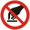 Symbolschild, Berühren verboten nach BGV A8 P 08