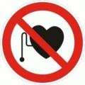 Symbolschild, Verbot für Personen mit Herzschrittmacher nach BGV