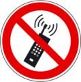 Symbolschild, Mobilfunk verboten nach BGV A8 P 18