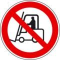Symbolschild, Für Flurförderfahrzeuge verboten nach BGV A8 P 07