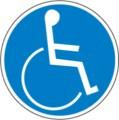 Hinweisschild, Rollstuhlfahrer