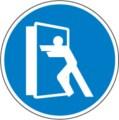 Hinweisschild, Tür stets schließen