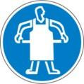 Hinweisschild, Schutzschürze tragen