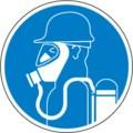 Hinweisschild, Schweres Atemschutzgerät benutzen