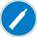 Hinweisschild, Druckgasflasche