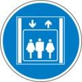 Hinweisschild, Personenaufzug