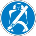 Hinweisschild, Sicherheitsgurt anlegen