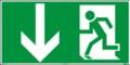 Fluchtwegzeichen, Rettungsweg - Notausgang nach ISO 6309