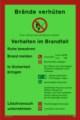 KNS: Brandschutzordnung nach DIN 14096-1 (TeilA) Restbestände vorhanden
