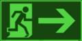 KNS Fluchtwegzeichen, Rettungsweg rechts nach ISO 6309