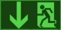 KNS Fluchtwegzeichen, Rettungsweg - Notausgang nach ISO 6309