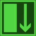 KNS Rettungsschild, Notausgang (klein) nach BGV A8 E 14 Restbestände vorhanden