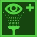 KNS Rettungsschild, Augenspüleinrichtung nach BGV A8 E 06 Restbestände vorhanden