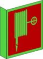 KN Fahnenschild, Löschschlauch nach BGV A8 F 03 Restbestände vorhanden