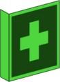 KN Fahnenschild, Erste Hilfe nach BGV A8 E 03 Restbestände vorhanden