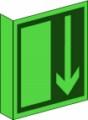 KN Fahnenschild, Notausgang nach BGV A8 E 14 Restbestände vorhanden
