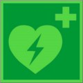 KNS Rettungsschild, Defibrillator Restbestände vorhanden