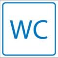 Piktogramm, WC *Toiletten* Restbestände vorhanden