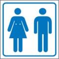 Piktogramm, Toilette Restbestände vorhanden