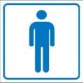 Piktogramm, Herren-Toilette Restbestände vorhanden