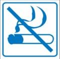Piktogramm, Nichtraucherraum Restbestände vorhanden