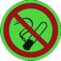 KNS-Symbolschild, Rauchen verboten nach BGV A8 P 01