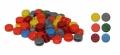 250 Kunststoffplomben - 8 mm in 6 Farben
