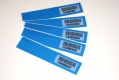 Klebesiegel 120x25 mm mit deutlichen Kleberückständen
